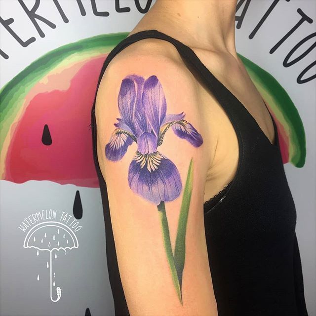 Iris done by Noemi for Sara at Watermelon Tattoo!!!