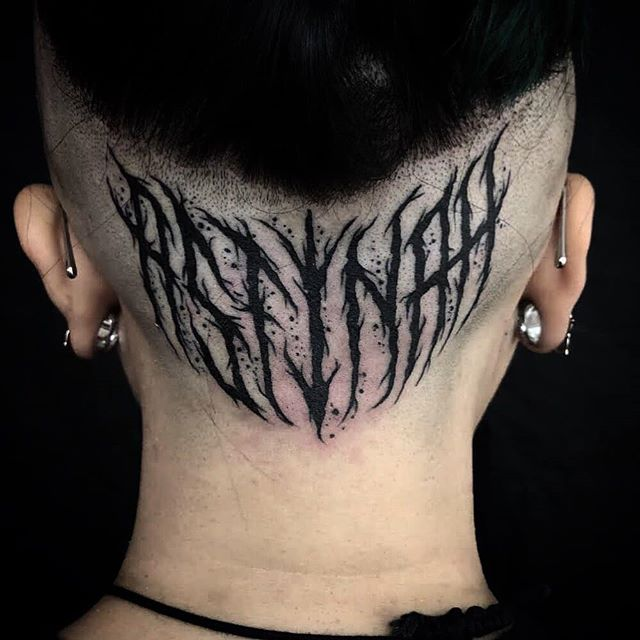 ASTINAH Some bold badassery on Bethanys head by Jamie. .christ