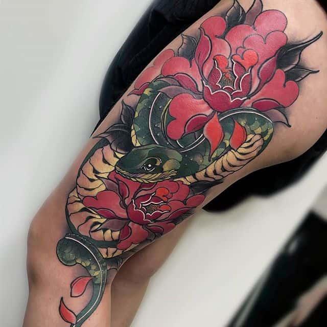 Part healed/ part fresh!!! Tattoo by Adriana at Watermelon Tattoo!!
