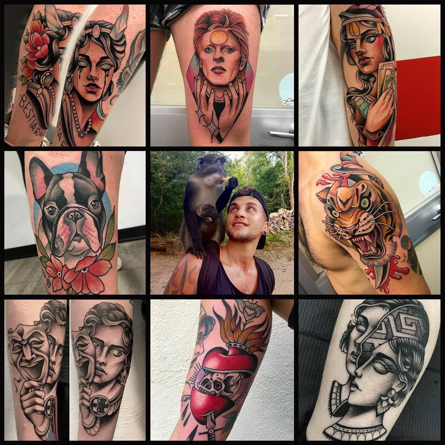 Marco is making his return to Watermelon Tattoo from 20th to 24th October and we couldn't be more excited to see him again! Spaces are already filling up very quickly (one full day remaining and a couple of 3 hour gaps). Marco is versatile in a variety of styles and is more than happy to create a custom piece unique to you!