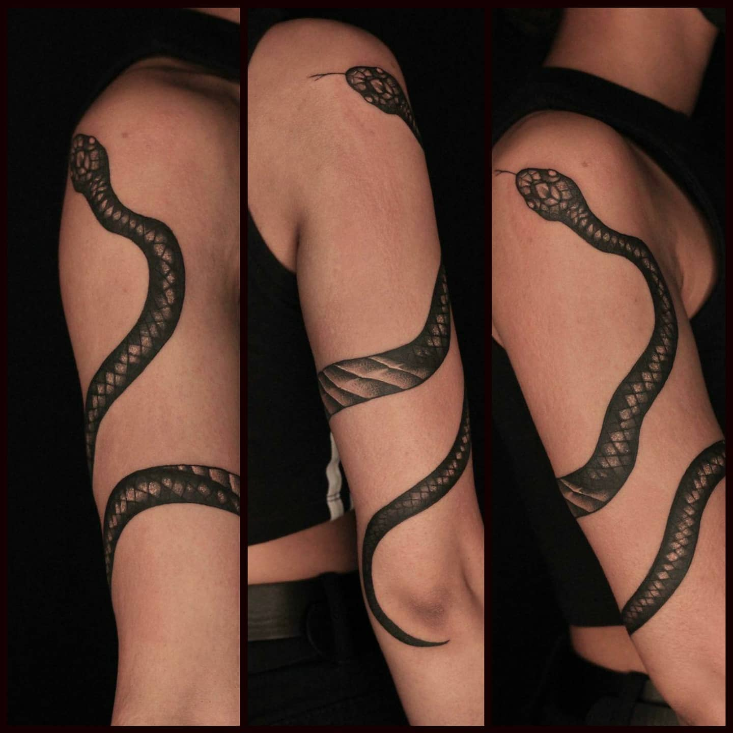 Wraparound snake for the lovely Noora by Liz!!!!  lizminellitattoo