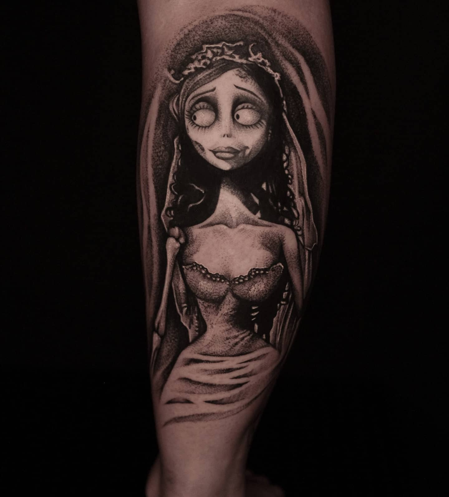 Emily Corpse Bride by Liz! Few wee gaps with Liz left in June and a few going in mid to late July!  lizminellitattoo