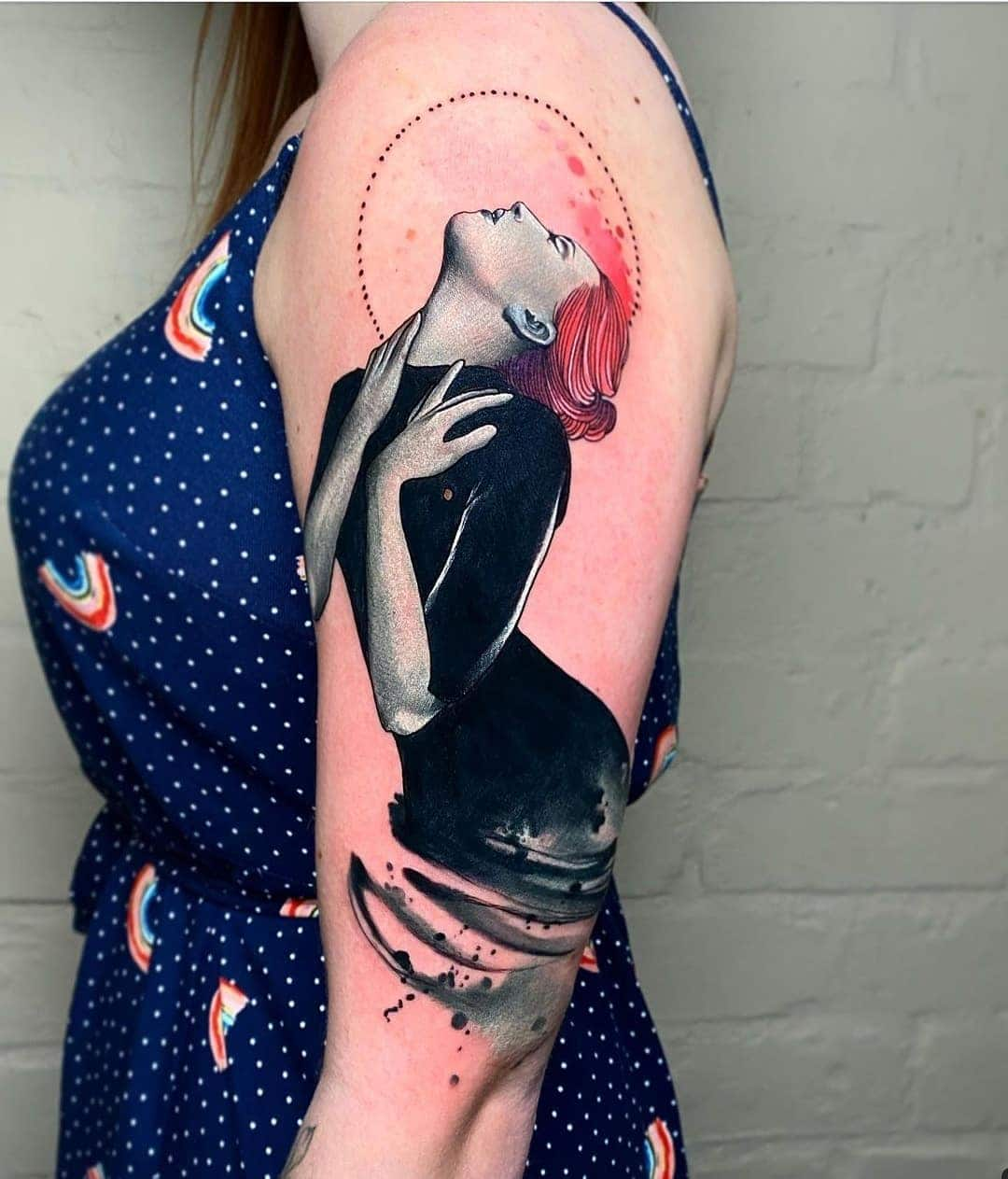 In love with this piece by Noemi for wonderful Gemma!  noemi_tattoo