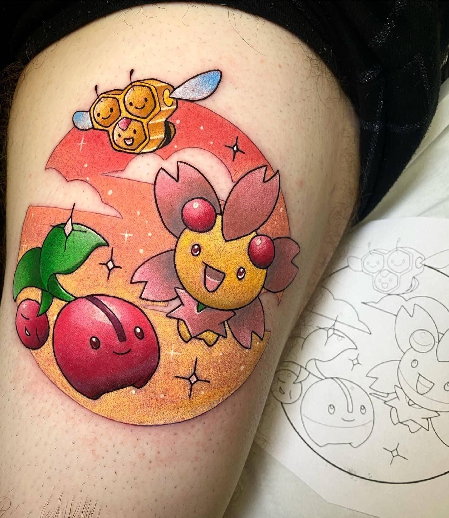 Cherubi, Combee and Cherrim!!!!  Pokemon cuteness by Noemi!  noemi_tattoo