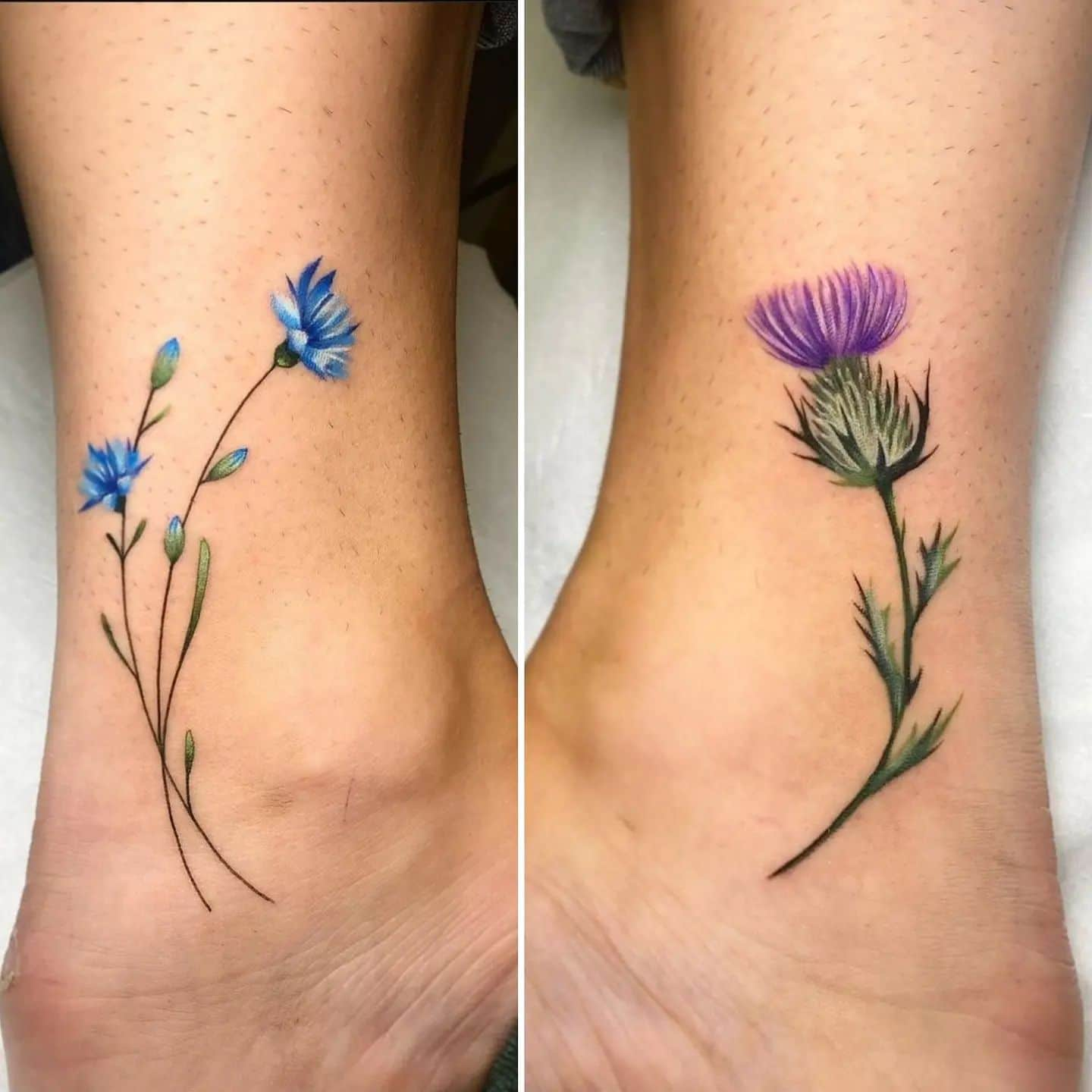 Couple of flowers around the ankle for the ever delightful Bryony!  Tattoo by Noemi.  noemi_tattoo